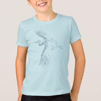 Verblaßter einfacher Reiher-T - Shirt