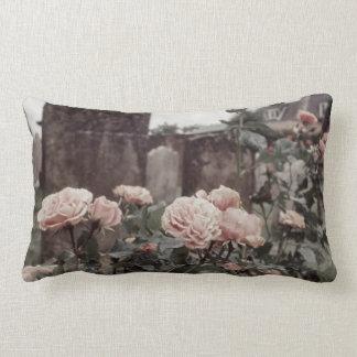Verblaßter rosa Rosen-schöner Blumen-Garten-Dekor Lendenkissen