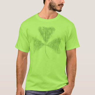 Verblaßtes Kleeblatt T-Shirt