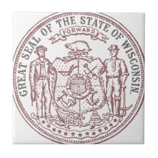Verblaßtes Wisconsin-Siegel Keramikfliese