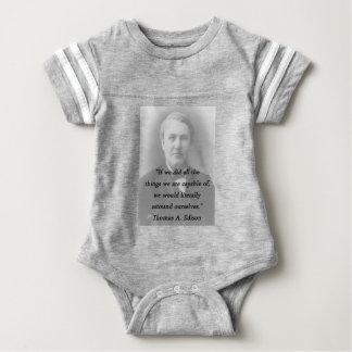 Verblüffen Sie sich - Thomas Alva Edison Baby Strampler