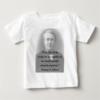 Verblüffen Sie sich - Thomas Alva Edison Baby T-shirt