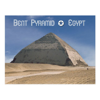 Verbogene Pyramide bei Dahshur, Ägypten Postkarte