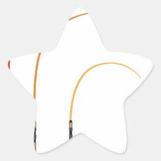 Verbogene Stern-Aufkleber