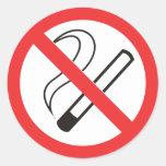 Verbot 6 Nichtraucher Runder Sticker