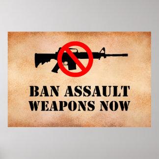 Verbot-Angriffs-Waffen Poster