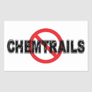 Verbot Chemtrails Rechteckiger Aufkleber