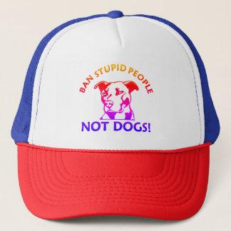 Verbot-dumme Leute-nicht Hunde Truckerkappe