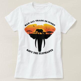 Verbot-Elfenbein T-Shirt
