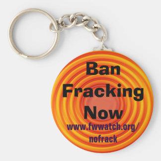 Verbot Fracking jetzt keychain Schlüsselanhänger