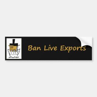Verbot-Liveexporte Autoaufkleber