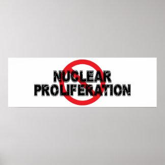 Verbot-nukleare starke Verbreitung Poster