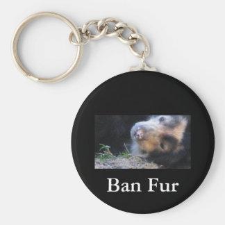 Verbot-Pelz Schlüsselanhänger