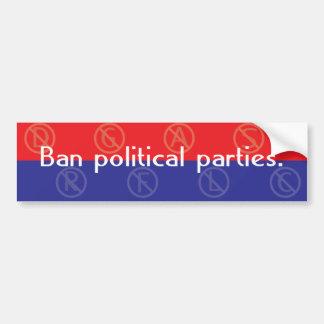 Verbot-politische Partys Autoaufkleber
