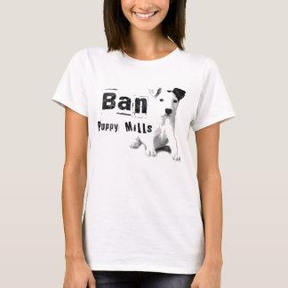 Verbot-Welpe mahlt Tierrecht-T - Shirt-T-Shirt T-Shirt