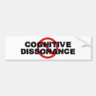 Verbotkognitiver Dissonance Autoaufkleber
