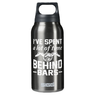 Verbrauchtes Los des Zeit-hinter Gittern Isolierte Flasche