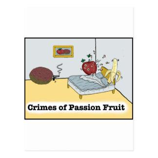 Verbrechen der Passionsfrucht Zazzle Postkarte