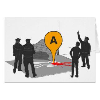 Verbrechen-Szenen-Karte mit Polizei-und Karte