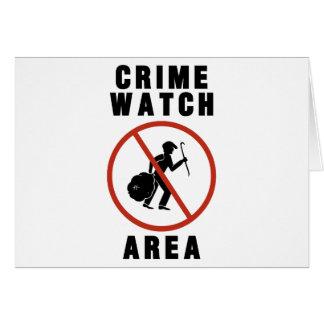 Verbrechen-Uhr-Bereichs-Zeichen Karte