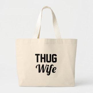 Verbrecher-Ehefrau Jumbo Stoffbeutel