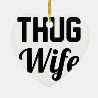 Verbrecher-Ehefrau Keramik Herz-Ornament