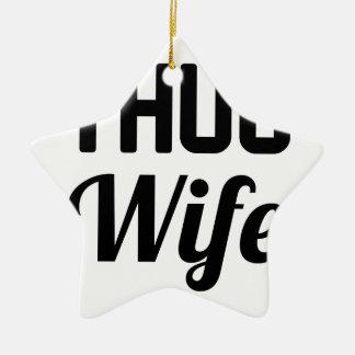 Verbrecher-Ehefrau Keramik Ornament