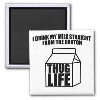 Verbrecher-Leben-Milch-Karton Quadratischer Magnet