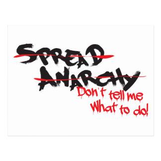 Verbreiten Sie Anarchie! Postkarte