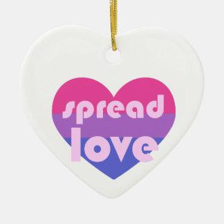 Verbreiten Sie Bisexual-Liebe Keramik Ornament