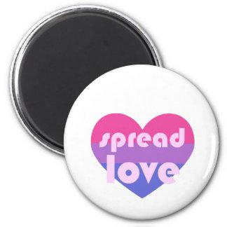 Verbreiten Sie Bisexual-Liebe Runder Magnet 5,1 Cm