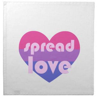 Verbreiten Sie Bisexual-Liebe Serviette