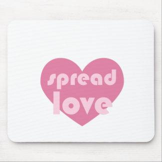 Verbreiten Sie die Liebe (allgemein) Mousepad