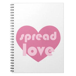 Verbreiten Sie die Liebe (allgemein) Notizblock