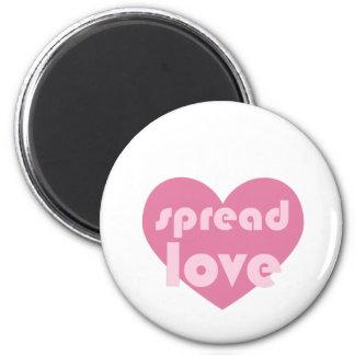 Verbreiten Sie die Liebe (allgemein) Runder Magnet 5,7 Cm