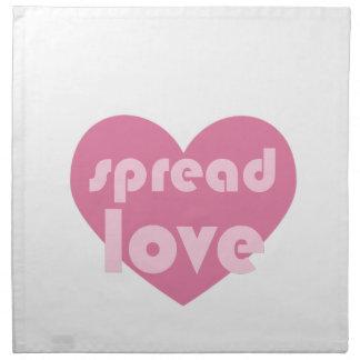 Verbreiten Sie die Liebe (allgemein) Stoffserviette