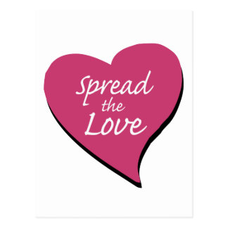 Verbreiten Sie die Liebe Postkarte
