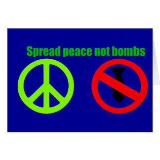 verbreiten Sie Friedensgrußkarte Karte