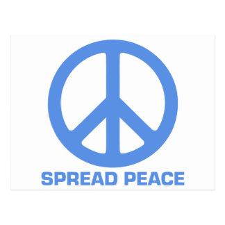 Verbreiten Sie Friedensprodukte Postkarte