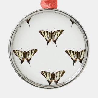 verbreiten Sie heraus Schmetterlinge Silbernes Ornament