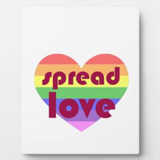 Verbreiten Sie homosexuelle Liebe Fotoplatte