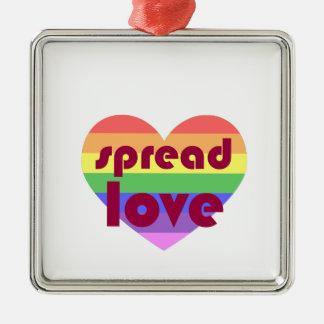 Verbreiten Sie homosexuelle Liebe Silbernes Ornament