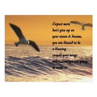 Verbreiten Sie Ihr wings_Postcard_by Elenne Boothe Postkarte