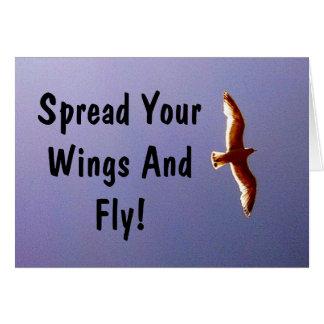 Verbreiten Sie Ihre Flügel-Gruß-Karte Karte