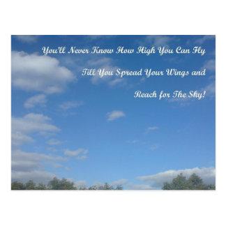 Verbreiten Sie Ihre Flügel Postkarte