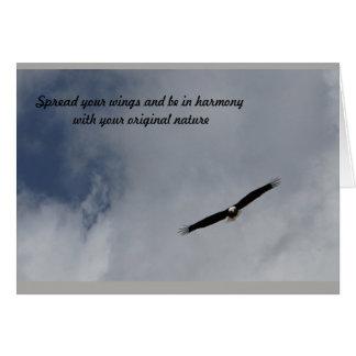 verbreiten Sie Ihre Flügelgrußkarte von Karte
