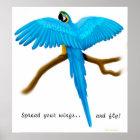 Verbreiten Sie Ihren Flügel-Papageien-Druck Poster
