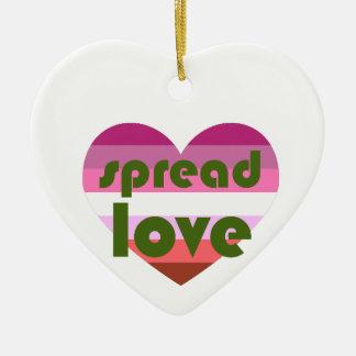 Verbreiten Sie lesbische Liebe Keramik Ornament