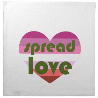 Verbreiten Sie lesbische Liebe Serviette