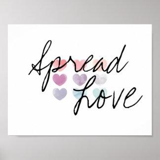 Verbreiten Sie Liebe-Plakat Poster